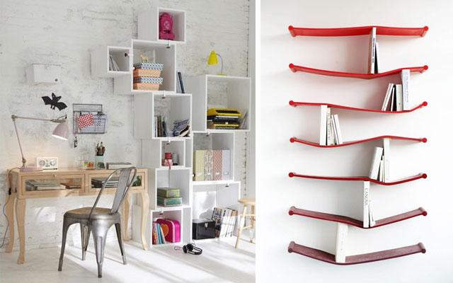 Decorar paredes con estantes originales casa y dinero - Estanterias metalicas para casa ...
