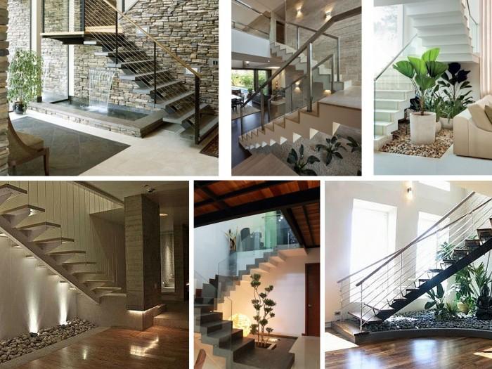 Ideas para decorar con plantas y optimizar el espacio for Decoracion debajo escaleras